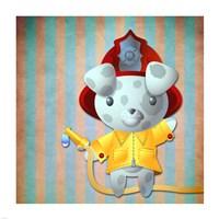 Little Firemans Helper Fine Art Print