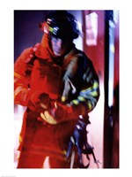 Firefighter at work - various sizes