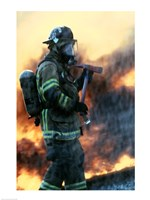 Firefighter at a rescue operation - various sizes - $29.99