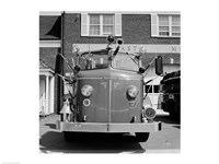 USA, New York, East Meadow, Fire engine Fine Art Print