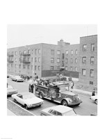 USA, New York City, fire engine Fine Art Print