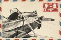 Small Vintage Air Mail I Fine Art Print