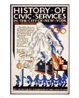 History of Civic Services in the NYC Fire Department 1731 Fine Art Print