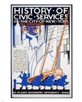 History of Civic Services in the NYC Fire Department 1936 Fine Art Print