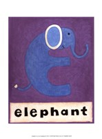 "E is for Elephant by Chariklia Zarris - 10"" x 13"""