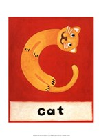C is for Cat Fine Art Print