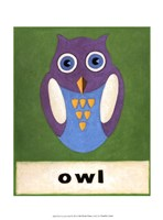 O is for Owl Fine Art Print