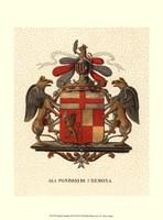 Stately Heraldry III Fine Art Print