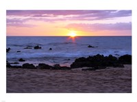 Keawakapu Beach Sunset Long Exposure Fine Art Print