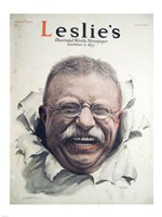 Leslies Illustrated Weekly Newspaper Nov. 1916 Teddy Roosevelt Fine Art Print