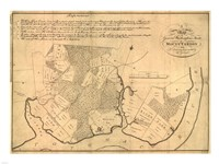 Map of Mt Vernon made by Washington Fine Art Print