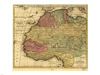 Map of Africa 1742 Fine Art Print