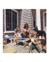 Photograph of Kennedy Family with Dogs During a Weekend at Hyannisport Fine Art Print