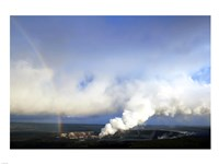 Rainbow and Sulfur Dioxide Emissions from the Halema`uma`u Vent - various sizes