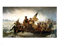Washington Crossing the Delaware by Emanuel Leutze Framed Print