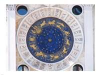 St Marks Venice Clock Fine Art Print