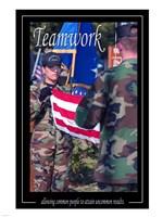 Teamwork Affirmation Poster Fine Art Print