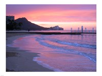 Waikiki Beach Sunset Fine Art Print