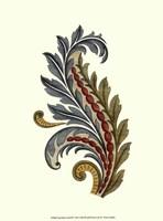 Jacobean Leaf III Framed Print