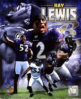 Ray Lewis 2011 Portrait Plus Framed Print
