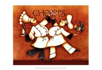 "Chef's Cheers by Sydney Wright - 19"" x 13"", FulcrumGallery.com brand"