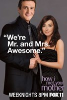 How I Met Your Mother - We're Mr. and Mrs. Awesome Wall Poster