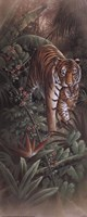 """Tiger with Cubs by T.C. Chiu - 8"""" x 20"""""""