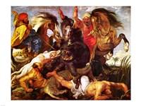 Hippopotamus and Crockodile Hunt by Peter Paul Rubens - various sizes
