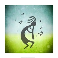 Kokopelli Music III Framed Print