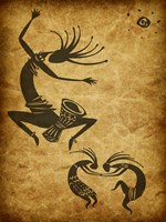 Kokopelli Drum Circle Fine Art Print