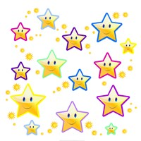 Happy Face Stars - various sizes