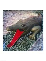 Playground alligator with mouth open - various sizes