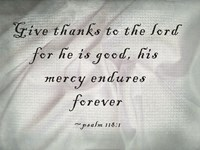 Give Thanks to the Lord Fine Art Print