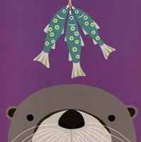 Peek-a-Boo Otter Framed Print
