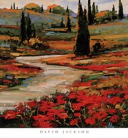 Hills In Bloom II Fine Art Print