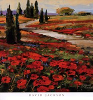 """Hills In Bloom I by David Jackson - 24"""" x 26"""""""