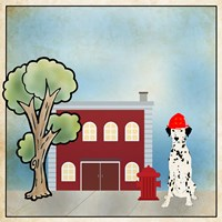 Dalmation Firehouse Fine Art Print