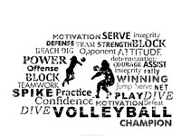 Volleyball Text Fine Art Print