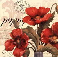 "Red & White I -mini by Pamela Gladding - 12"" x 12"""