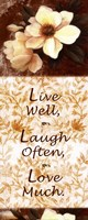 Live Well, Laugh Often, Love Much Fine Art Print