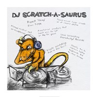 DJ Scratch-A-Saurus - various sizes