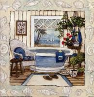 "SEA BREEZE BATH I by Charlene Winter Olson - 12"" x 12"""