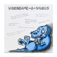 Videogame A Saurus - various sizes