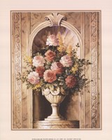 Assorted Roses in Urn Fine Art Print