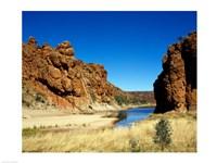 Lake surrounded by rocks, Glen Helen Gorge, Northern Territory, Australia - various sizes - $29.99
