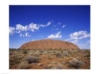 Rock formation, Ayers Rock, Uluru-Kata Tjuta National Park, Australia Framed Print
