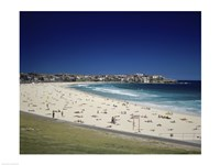High angle view of tourists on the beach, Bondi Beach, Sydney, New South Wales, Australia - various sizes