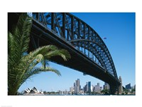 Low angle view of a bridge, Sydney Harbor Bridge, Sydney, New South Wales, Australia - various sizes
