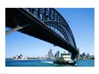 Low angle view of a bridge, Sydney Harbor Bridge, Sydney, Australia Fine Art Print