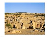Rock formations in the desert, The Pinnacles Desert, Nambung National Park, Australia - various sizes - $29.99